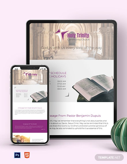 Community Church Newsletter Template