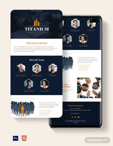 Employee Newsletter Template
