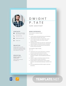 Care Assistant Resume Template