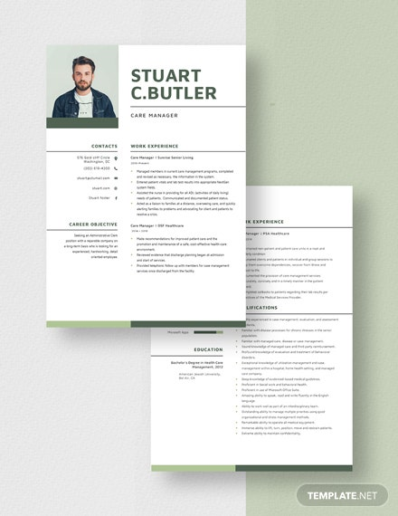 Care Manager Resume Download