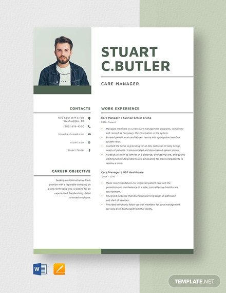 Care Manager Resume
