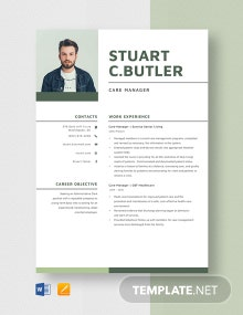 Care Manager Resume Template