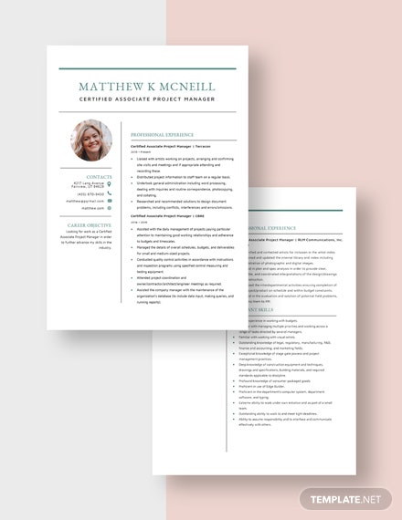 Certified Associate Project Manager Resume Download