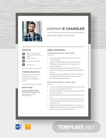 Certified Coding Specialist Resume Template