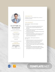 Claims Manager Resume Template