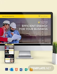 Energy Company Newsletter Template