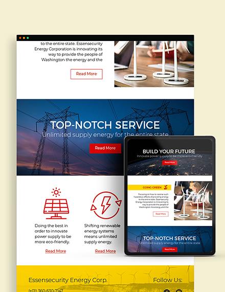 Sample Energy Company Newsletter