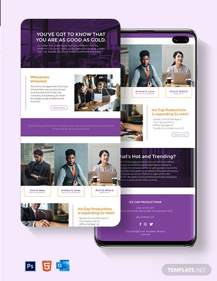Internal Employee Newsletter Template