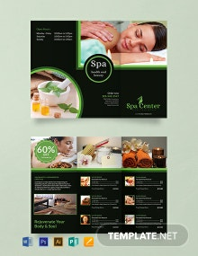 Free Spa Trifold Brochure Template