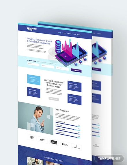 Accountancy Firm PSD Landing Page Download