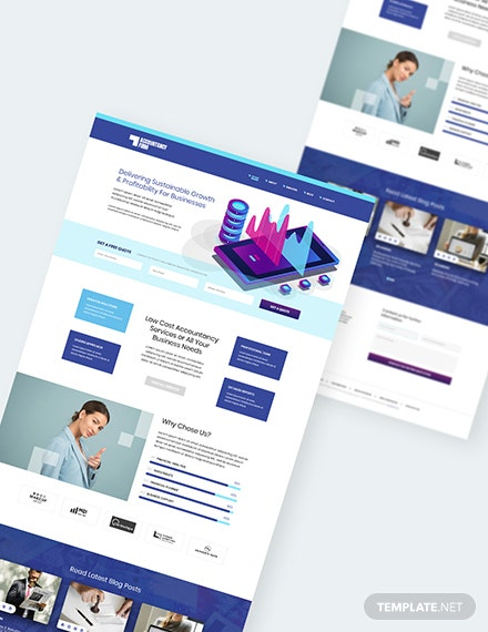 Sample Accountancy Firm PSD Landing Page