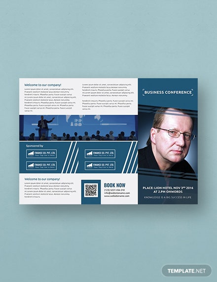 Free Business Conference A TriFold Brochure Template