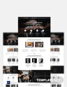 Barber Shop PSD Landing Page Template