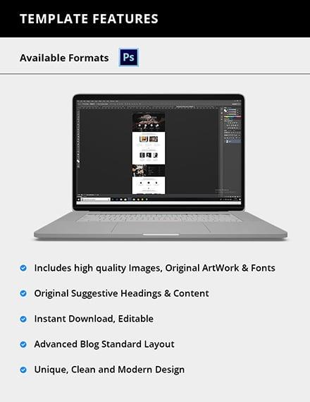 Editable Barber Shop PSD Landing Page