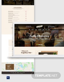 Beer Pub PSD Landing Page Template