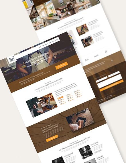 Carpenter PSD Landing Page Download