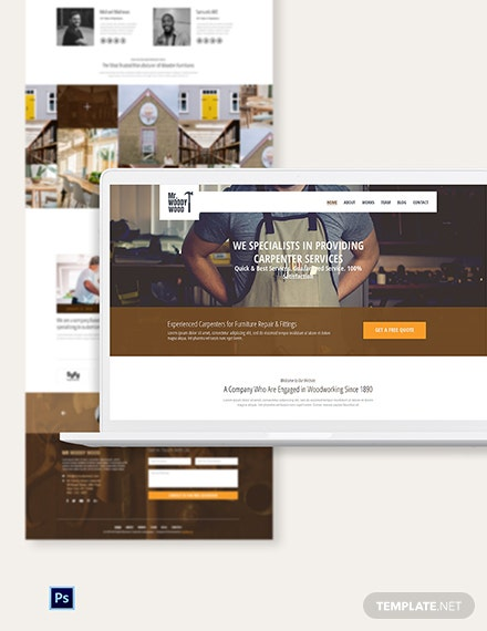 Carpenter PSD Landing Page Template