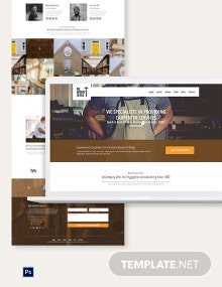 Carpenter PSD Landing Page Template