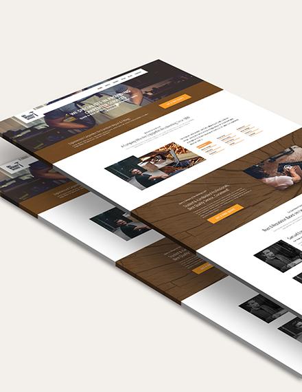 Sample Carpenter PSD Landing Page