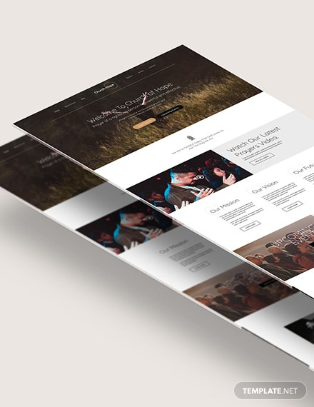 Church PSD Landing Page Download