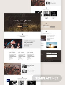 Church PSD Landing Page Template