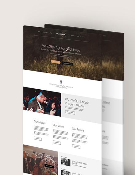 Sample Church PSD Landing Page