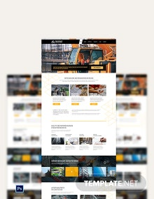 Construction Company PSD Landing Page Template