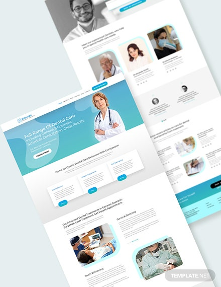 Dentist Dental Clinic PSD Landing Page Download