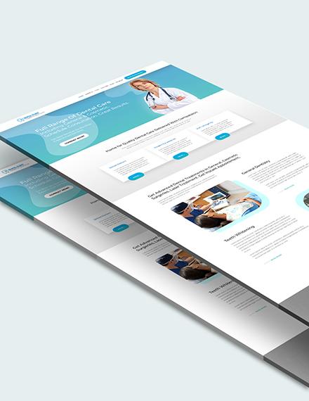 Sample Dentist Dental Clinic PSD Landing Page