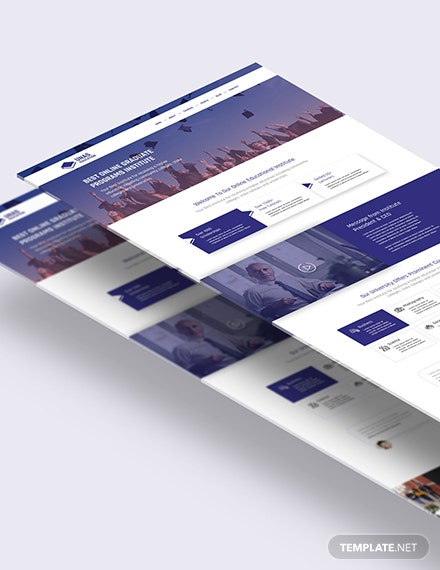 Education PSD Landing Page Download