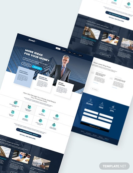 Sample Financial Advisor PSD Landing Page