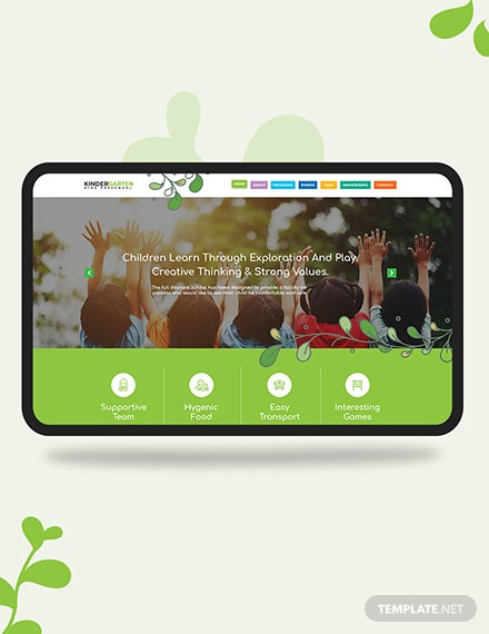 Kindergarten PSD Landing Page Download