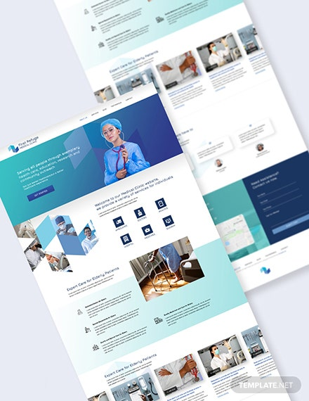 Medical Clinic PSD Landing Page Download