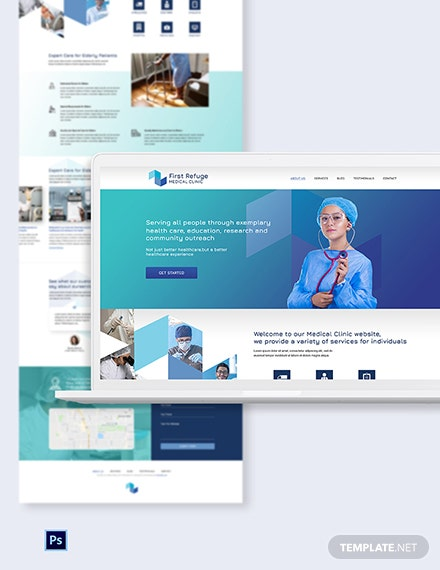Medical Clinic PSD Landing Page Template