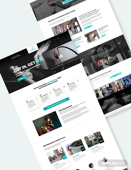 Personal Trainer PSD Landing Page Download