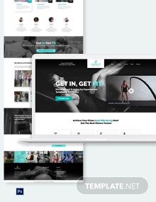 Personal Trainer PSD Landing Page Template