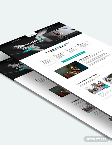 Sample Personal Trainer PSD Landing Page