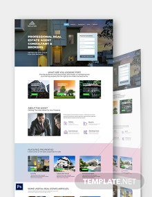 Real Estate Agent Realtor PSD Landing Page Template