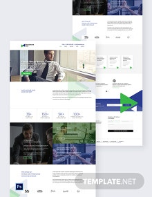 Recruitment Firm PSD Landing Page Template