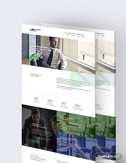 Sample Recruitment Firm PSD Landing Page