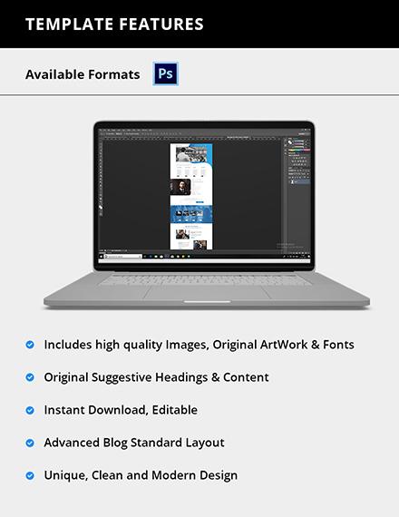 Editable Speaker PSD Landing Page