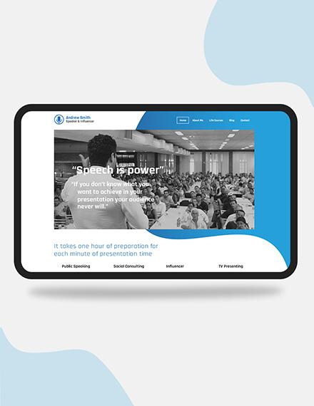 Speaker PSD Landing Page Download