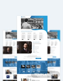 Speaker PSD Landing Page Template