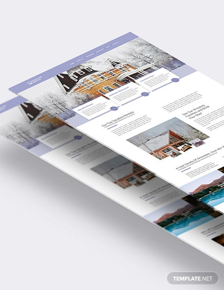 Vacation Rental PSD Landing Page Download