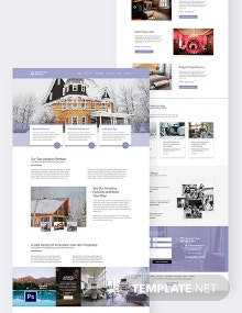 Vacation Rental PSD Landing Page Template