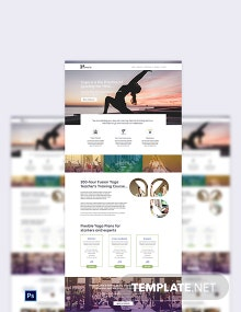 Yoga Instructor PSD Landing Page Template