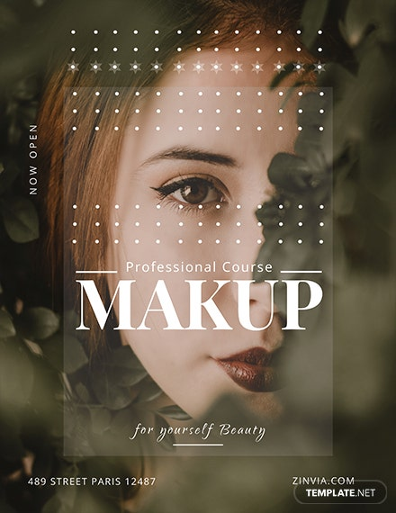 Free Make up Artist Flyer Template