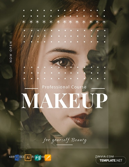 Free Make up Artist Flyer Template