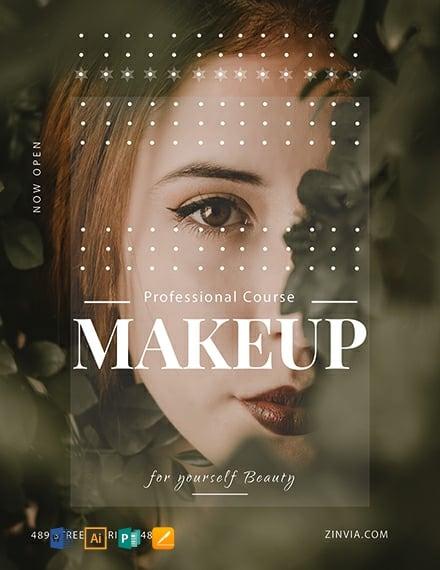 Free Make Up Artist Flyer Template Word Psd Apple