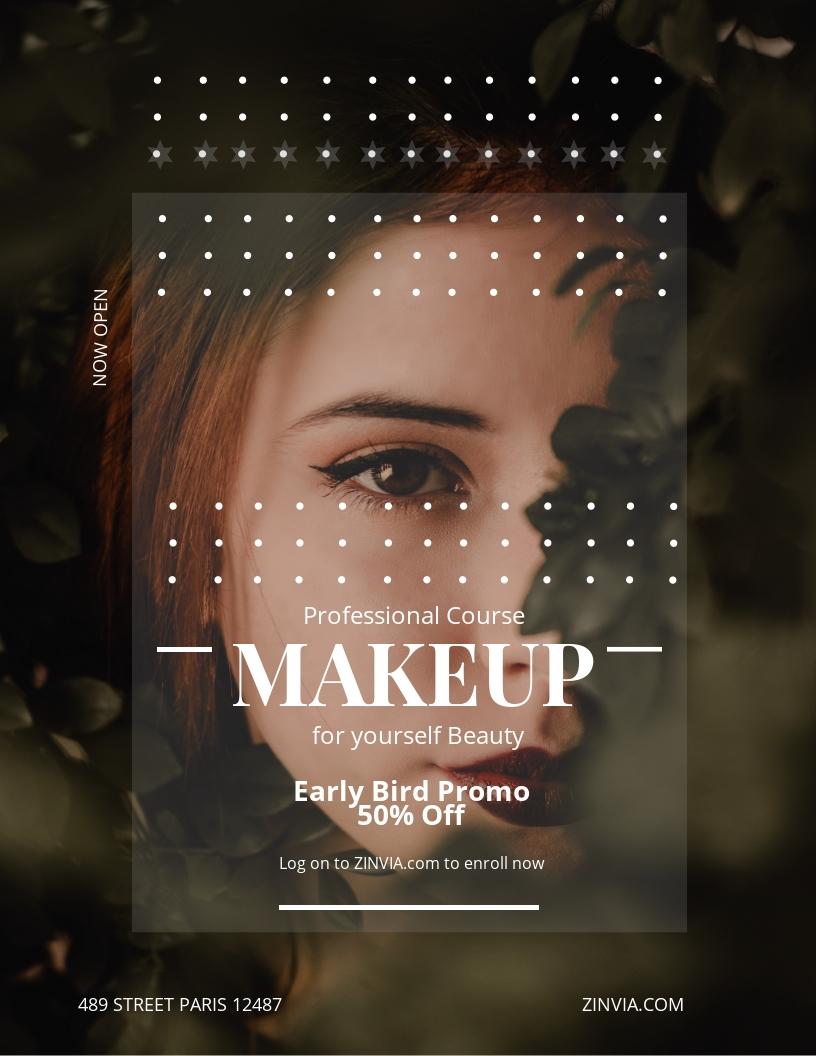 Make up Artist Flyer Template